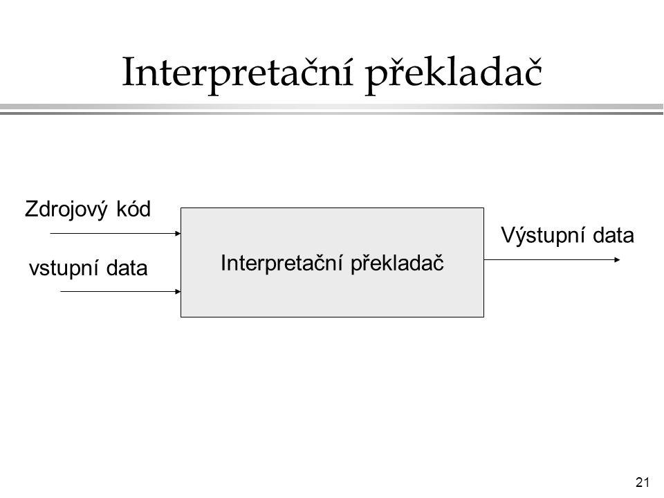 Interpretační překladač