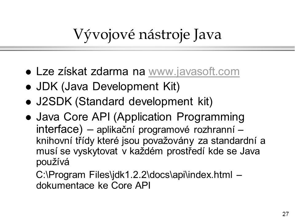 Vývojové nástroje Java
