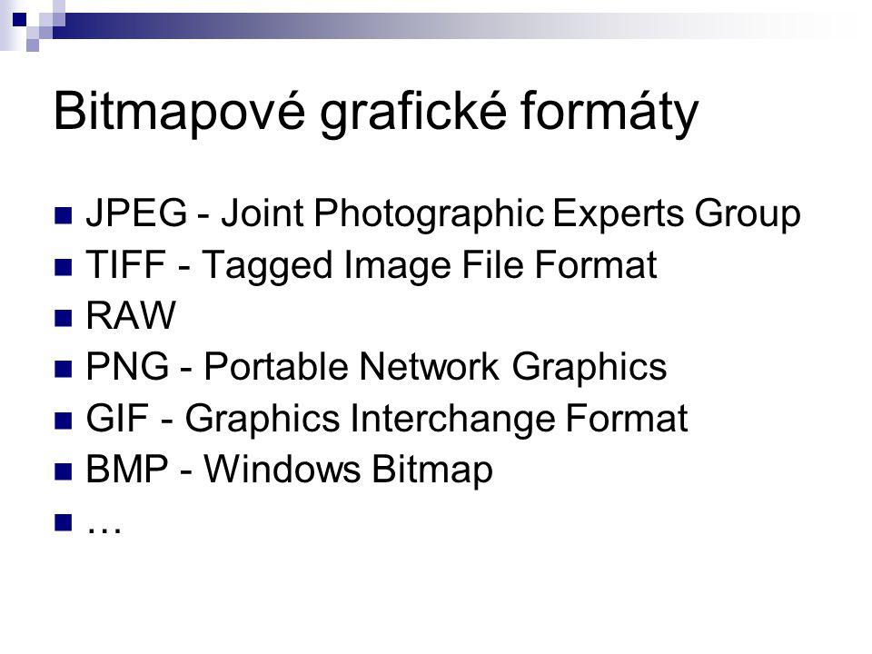 Bitmapové grafické formáty