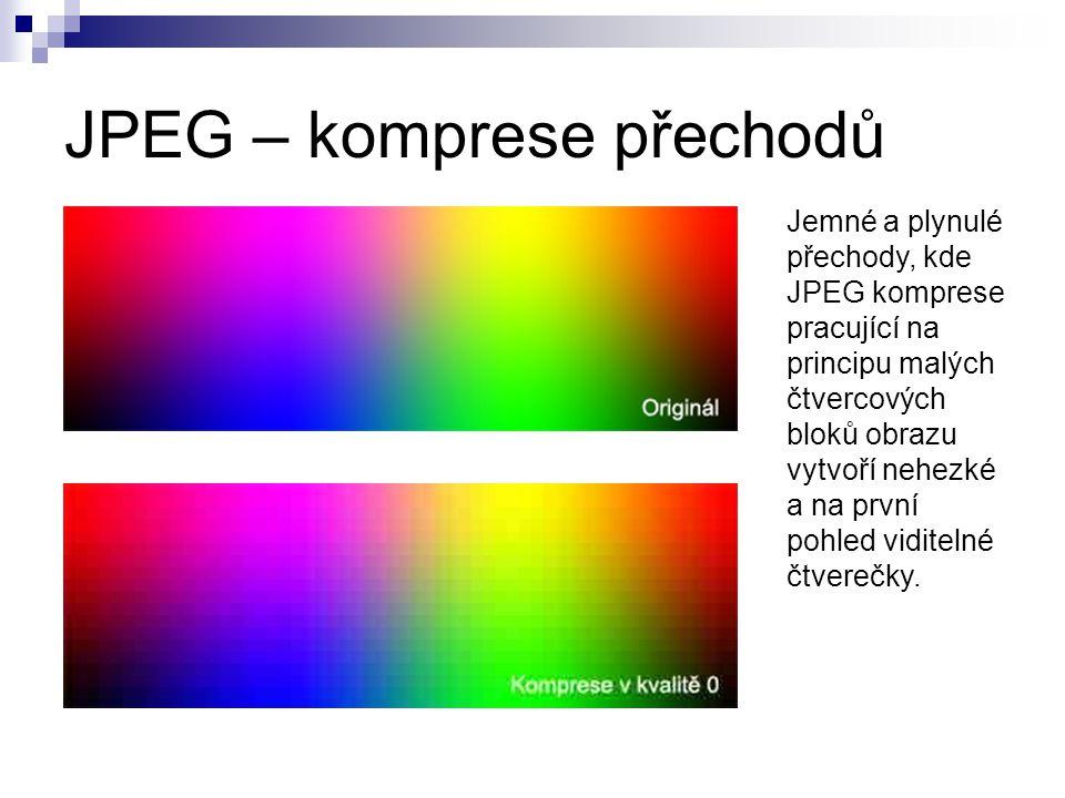 JPEG – komprese přechodů