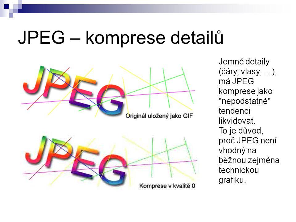 JPEG – komprese detailů