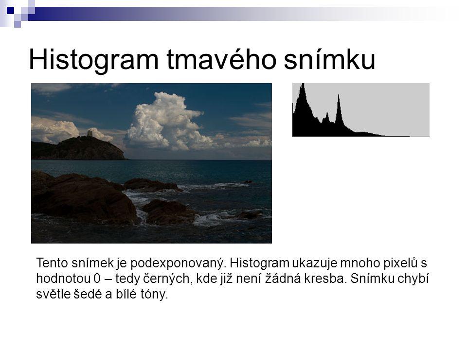 Histogram tmavého snímku