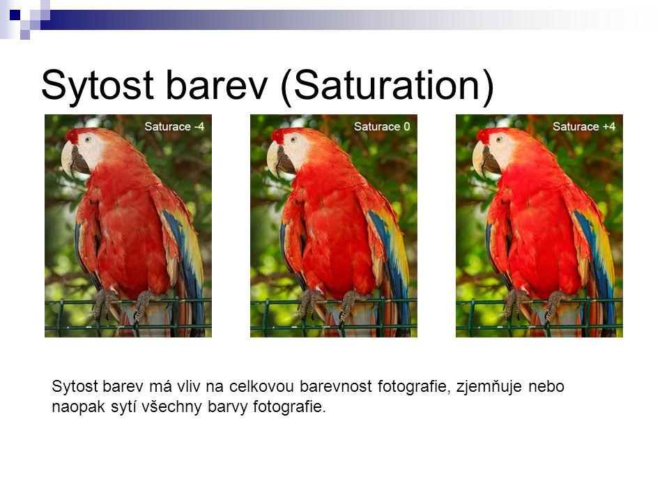 Sytost barev (Saturation)