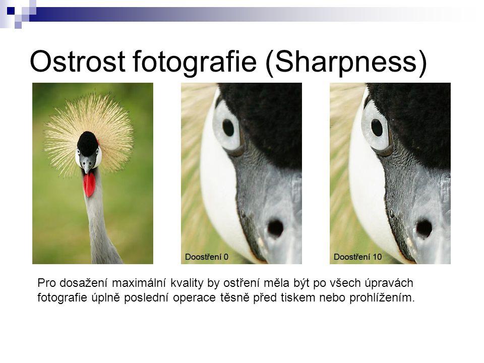 Ostrost fotografie (Sharpness)
