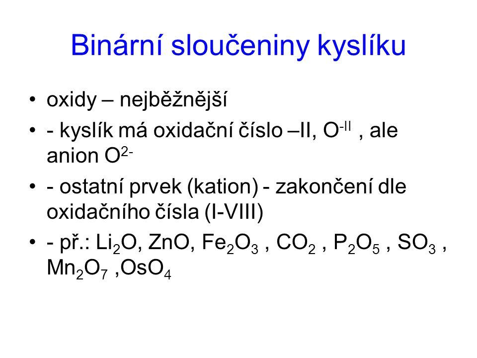 Binární sloučeniny kyslíku