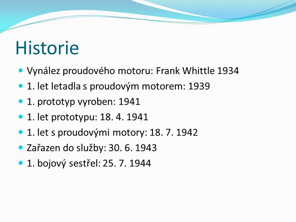 Historie Vynález proudového motoru: Frank Whittle 1934