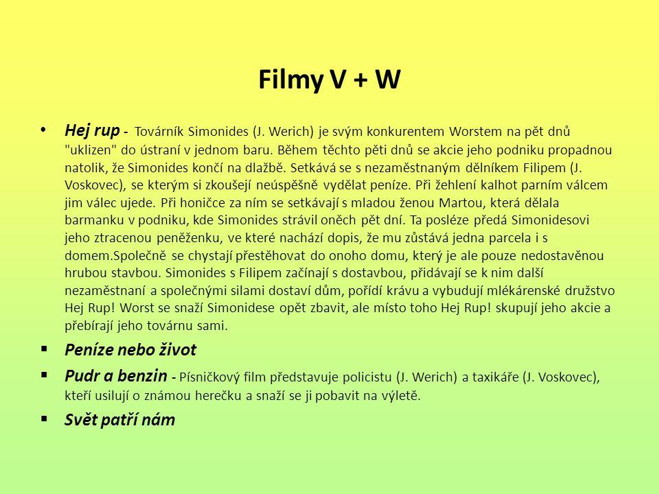Filmy V + W