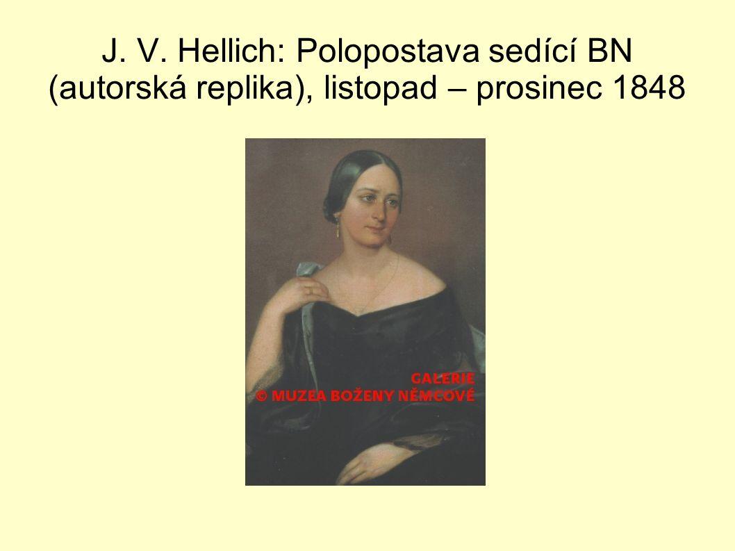 J. V. Hellich: Polopostava sedící BN (autorská replika), listopad – prosinec 1848