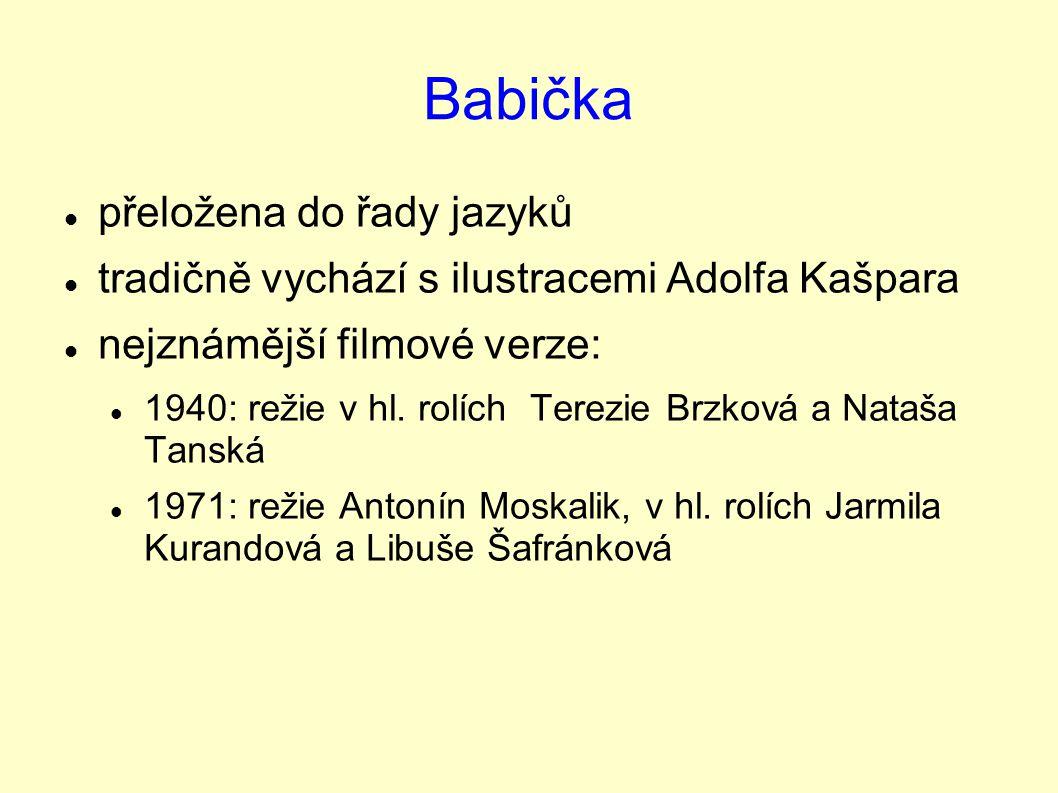Babička přeložena do řady jazyků