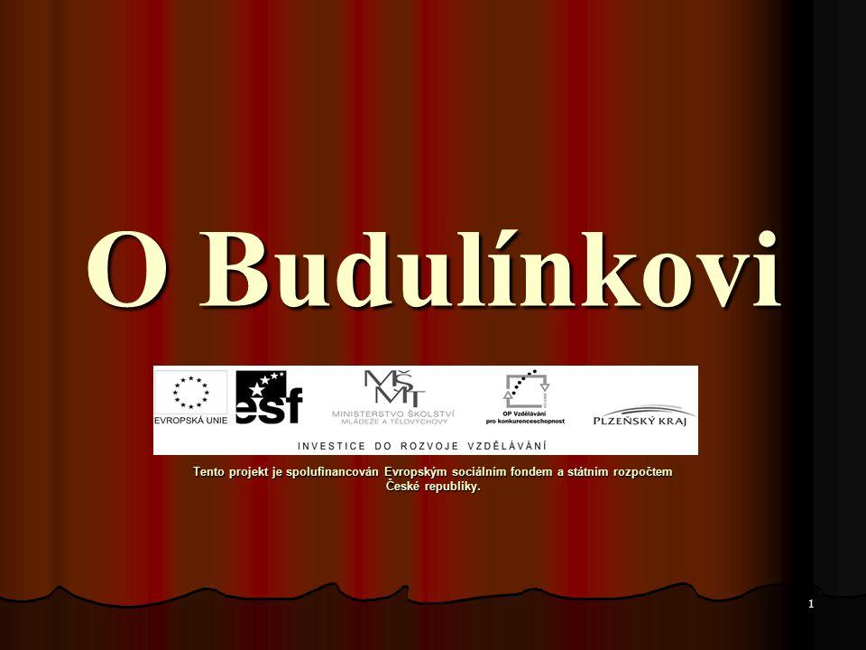 O Budulínkovi O Budulínkovi Tento projekt je spolufinancován Evropským sociálním fondem a státním rozpočtem České republiky.
