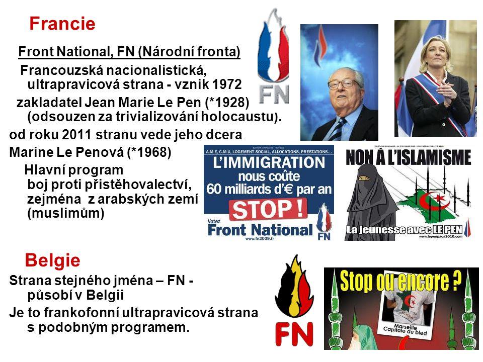 Francie Belgie Front National, FN (Národní fronta)