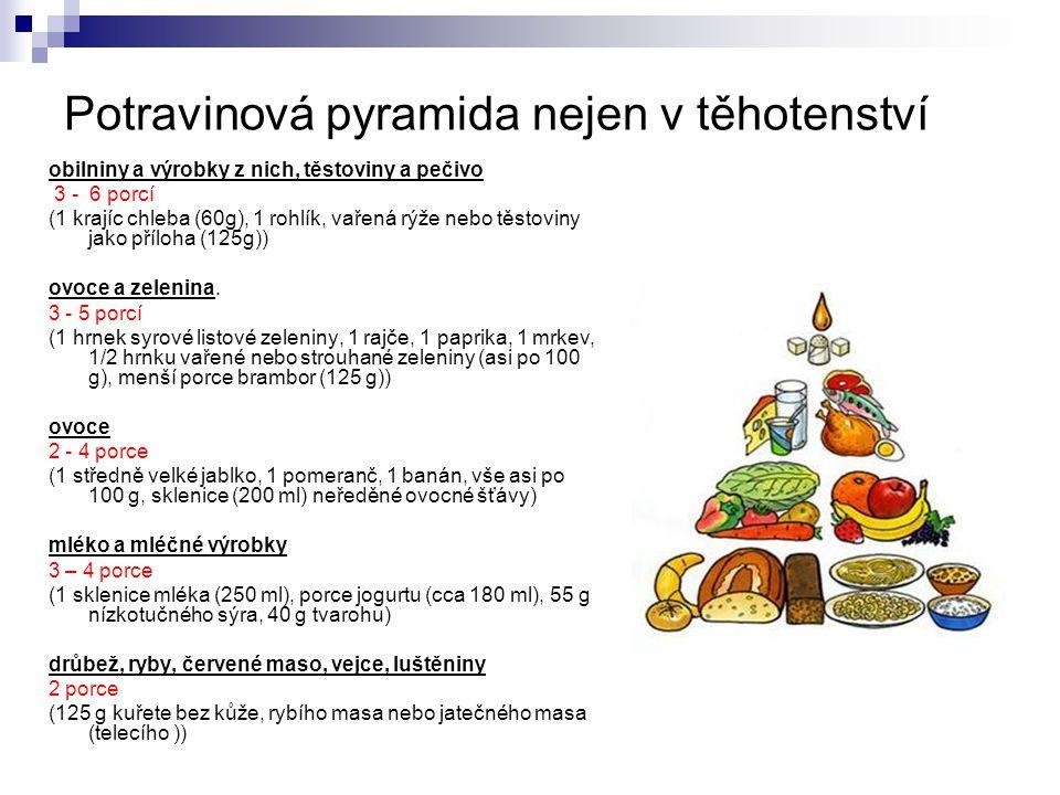 Potravinová pyramida nejen v těhotenství