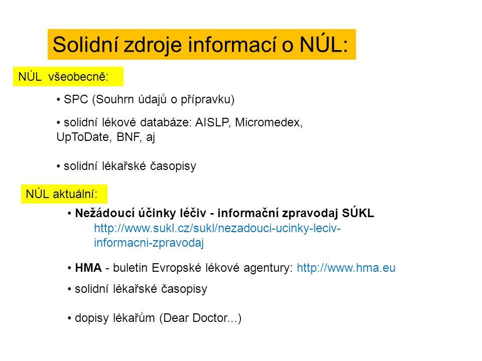 Solidní zdroje informací o NÚL: