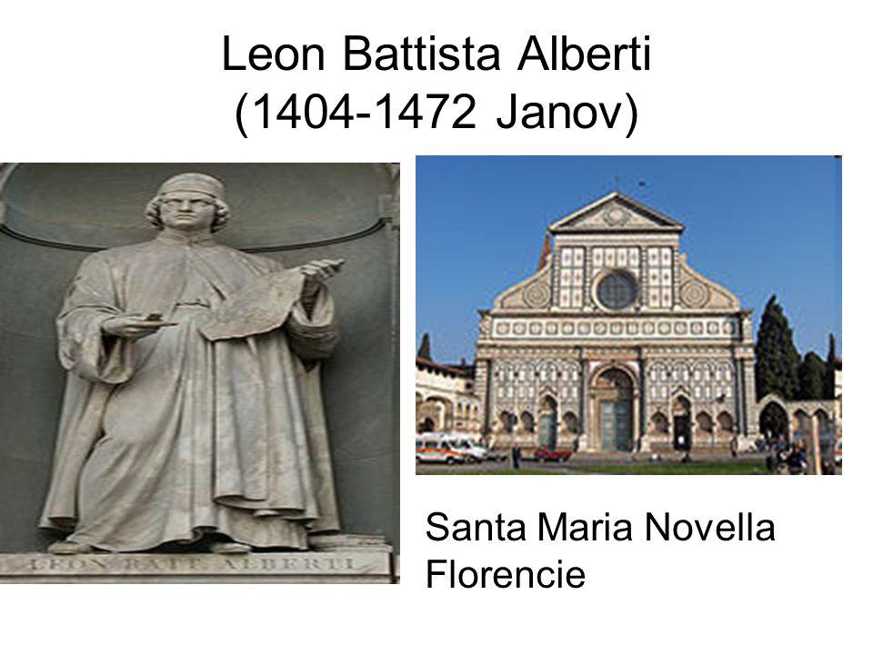 Leon Battista Alberti (1404-1472 Janov)