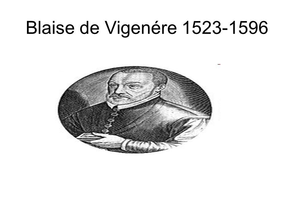 Blaise de Vigenére 1523-1596