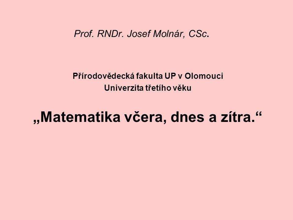 Prof. RNDr. Josef Molnár, CSc.