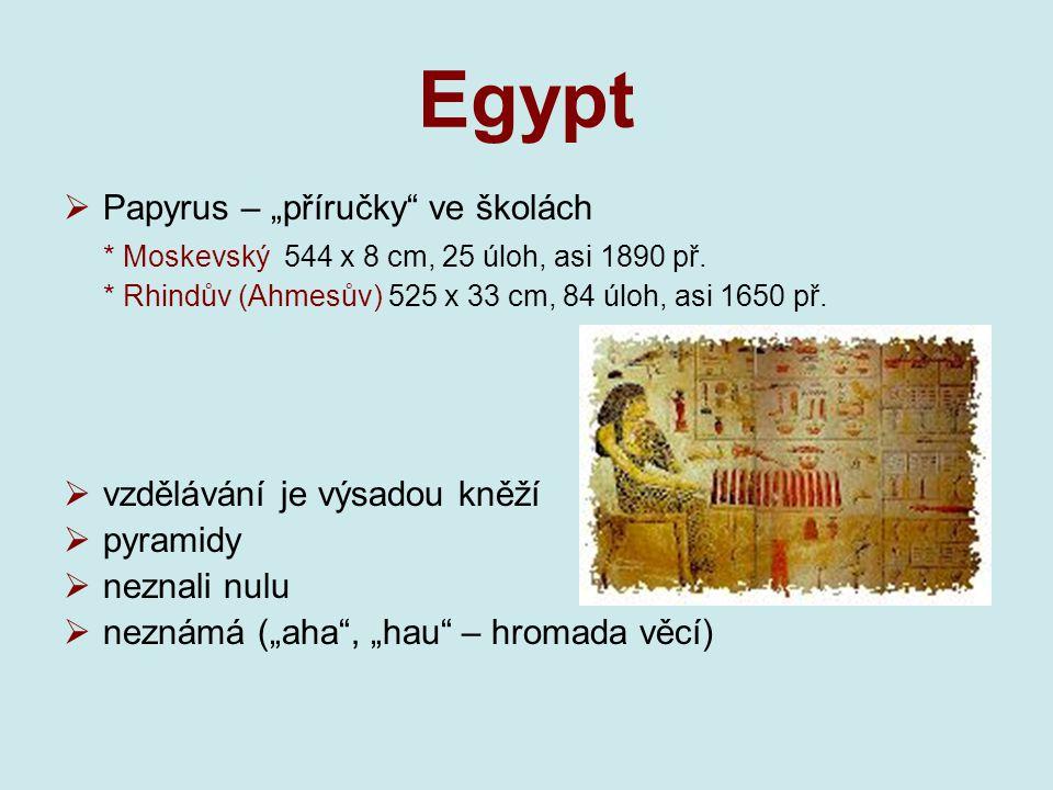 """Egypt Papyrus – """"příručky ve školách"""