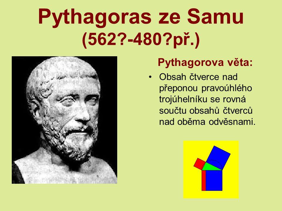 Pythagoras ze Samu (562 -480 př.)