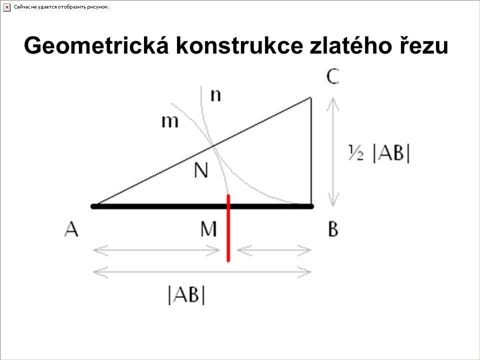 Geometrická konstrukce zlatého řezu