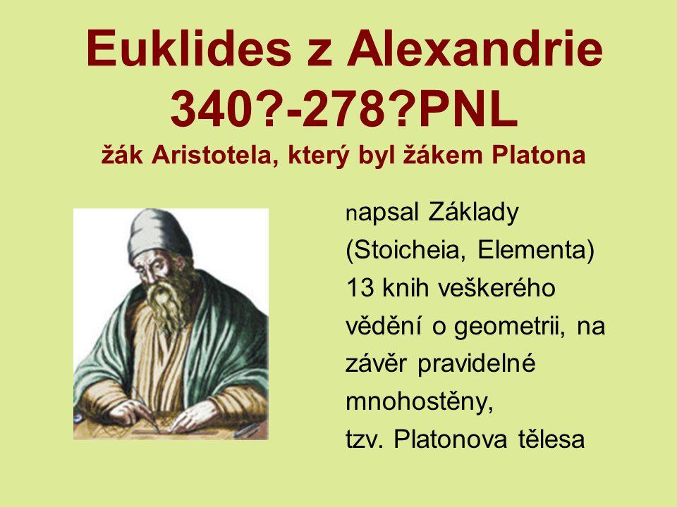 Euklides z Alexandrie 340. -278