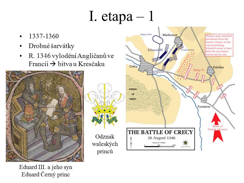 I. etapa – 1 1337-1360 Drobné šarvátky