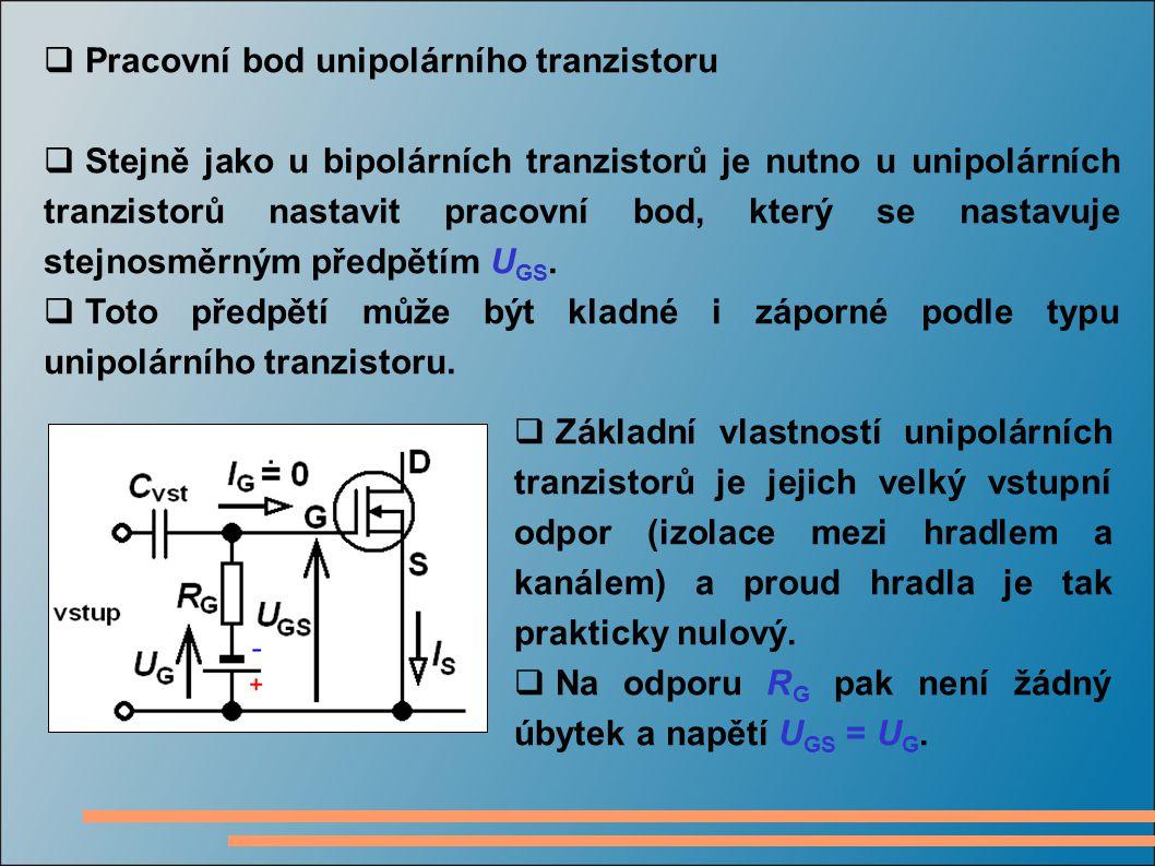 Pracovní bod unipolárního tranzistoru
