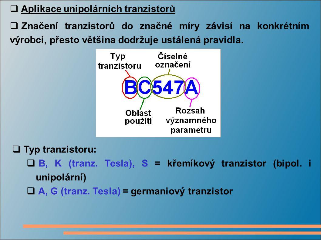 Aplikace unipolárních tranzistorů