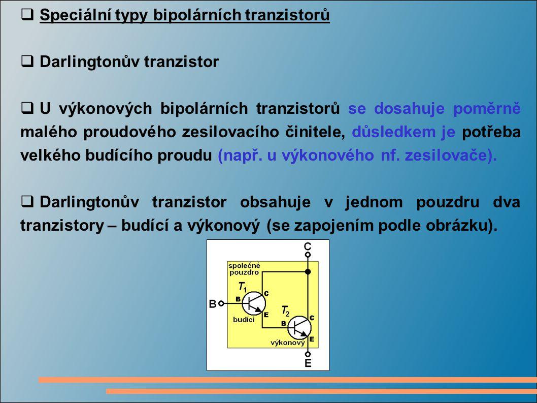 Speciální typy bipolárních tranzistorů