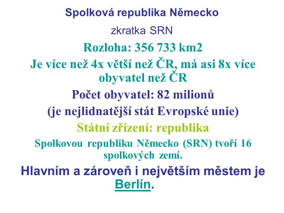 Spolková republika Německo zkratka SRN