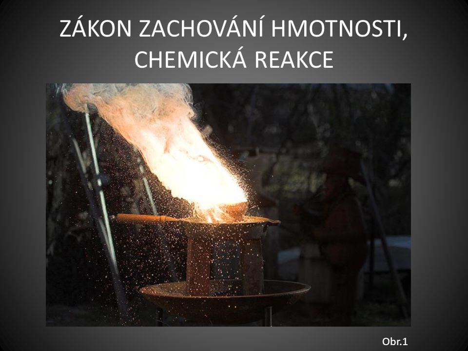 ZÁKON ZACHOVÁNÍ HMOTNOSTI, CHEMICKÁ REAKCE