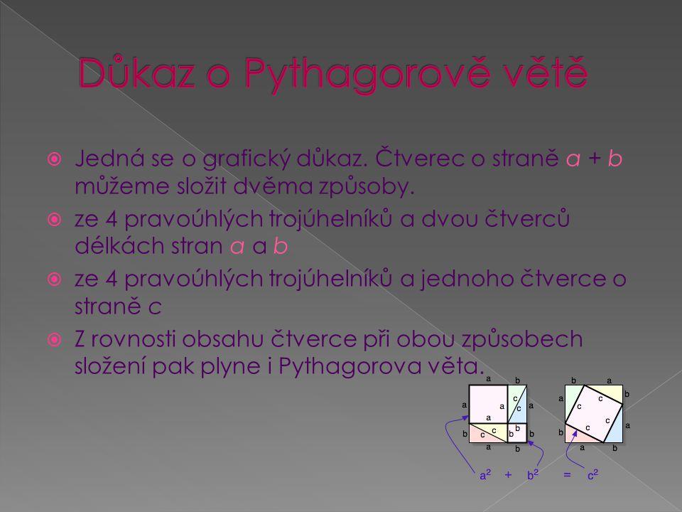Důkaz o Pythagorově větě