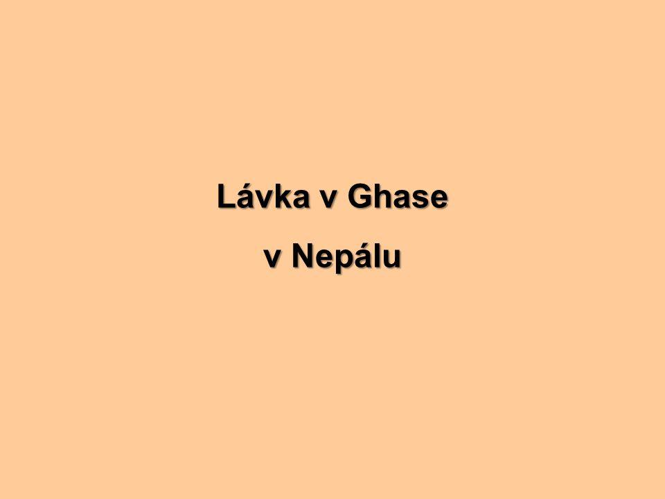 Lávka v Ghase v Nepálu