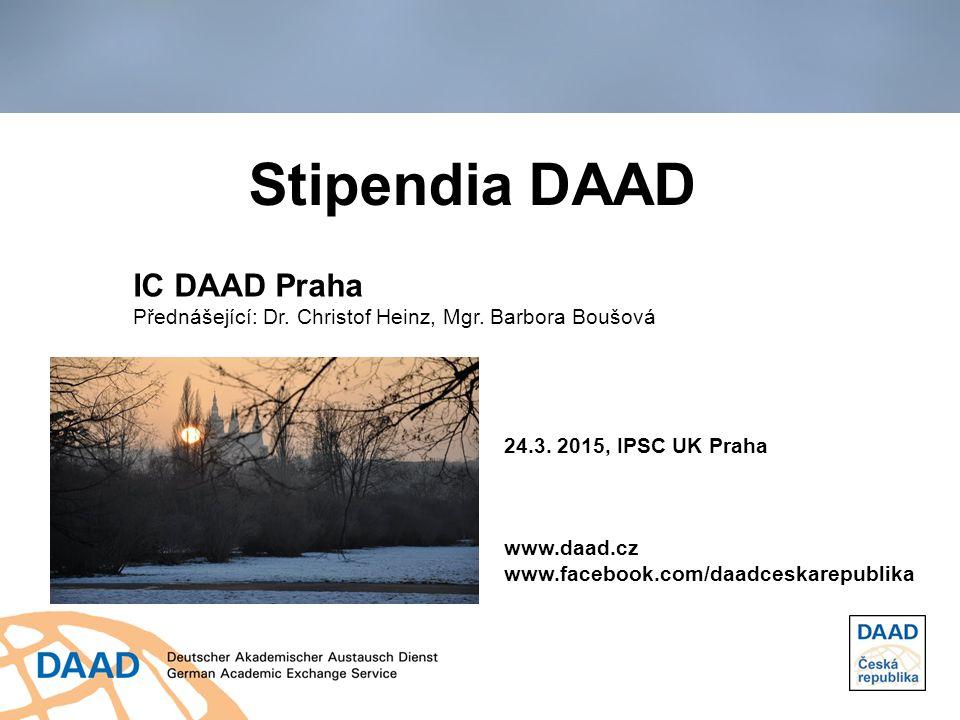 Stipendia DAAD IC DAAD Praha