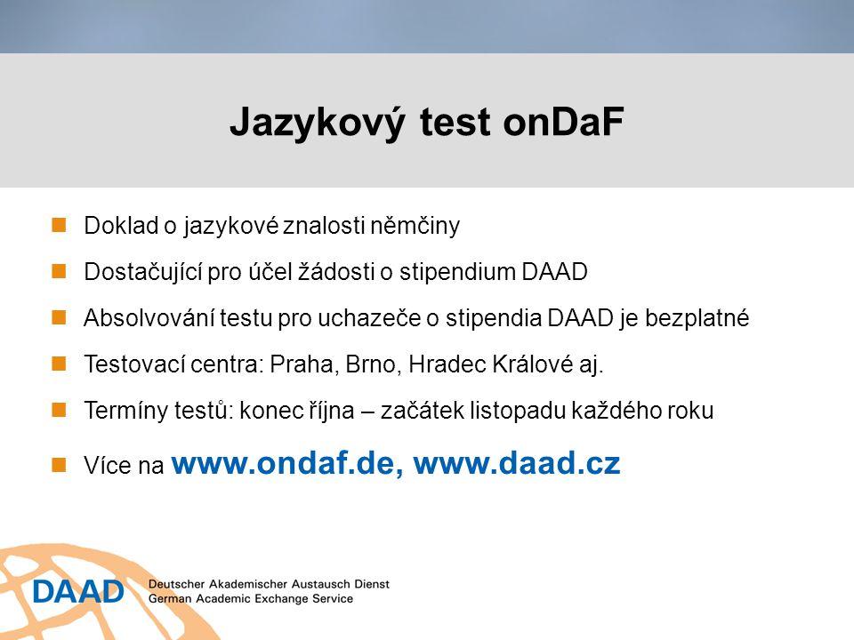 Jazykový test onDaF Doklad o jazykové znalosti němčiny