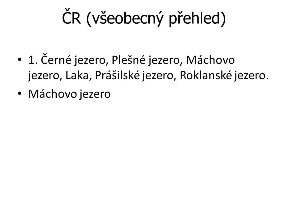 ČR (všeobecný přehled)