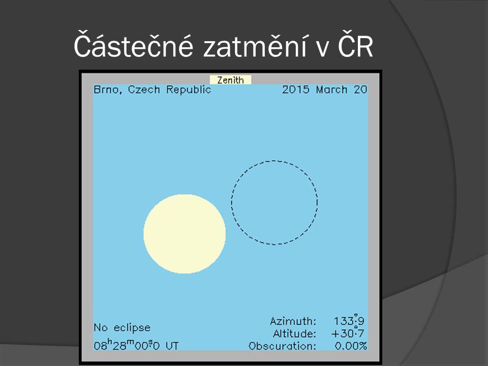 Částečné zatmění v ČR