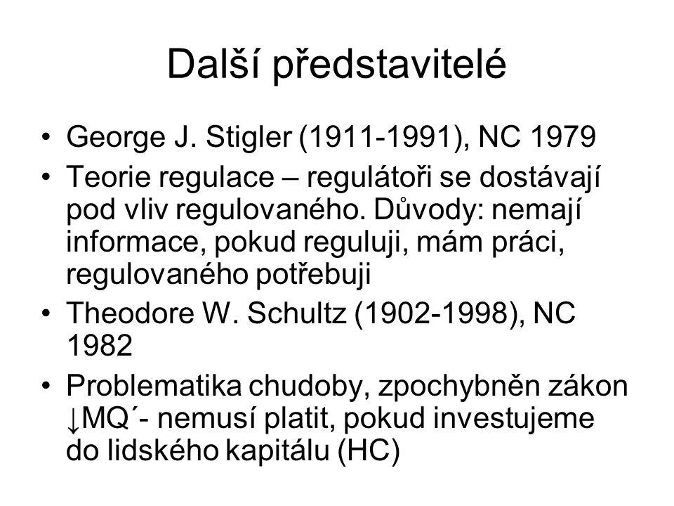 Další představitelé George J. Stigler (1911-1991), NC 1979