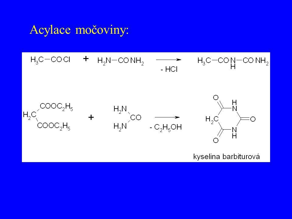 Acylace močoviny: