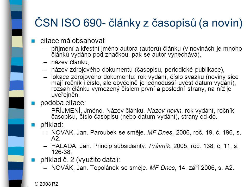 ČSN ISO 690- články z časopisů (a novin)