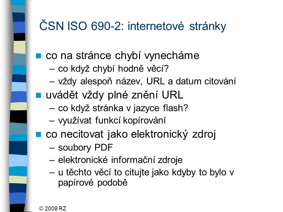 ČSN ISO 690-2: internetové stránky