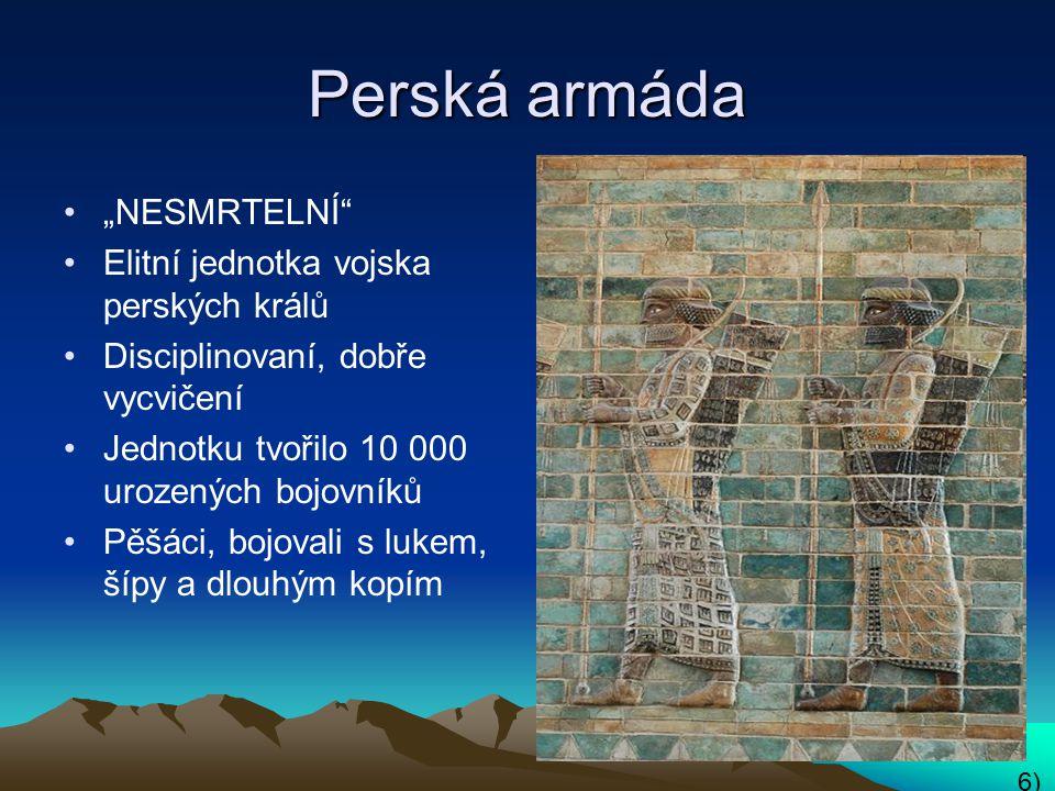 """Perská armáda """"NESMRTELNÍ Elitní jednotka vojska perských králů"""
