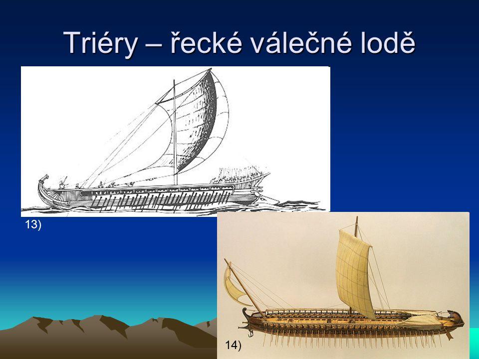 Triéry – řecké válečné lodě