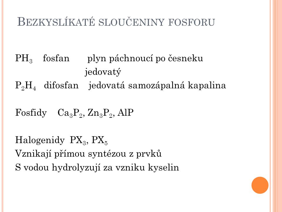 Bezkyslíkaté sloučeniny fosforu
