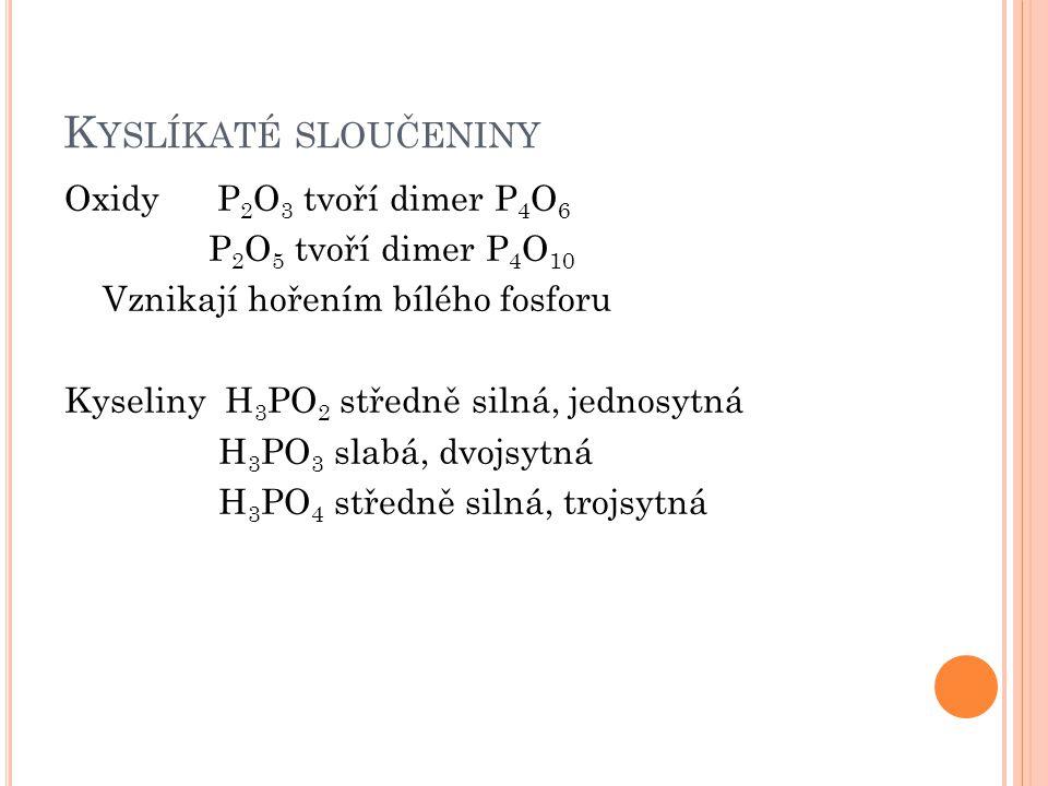 Kyslíkaté sloučeniny