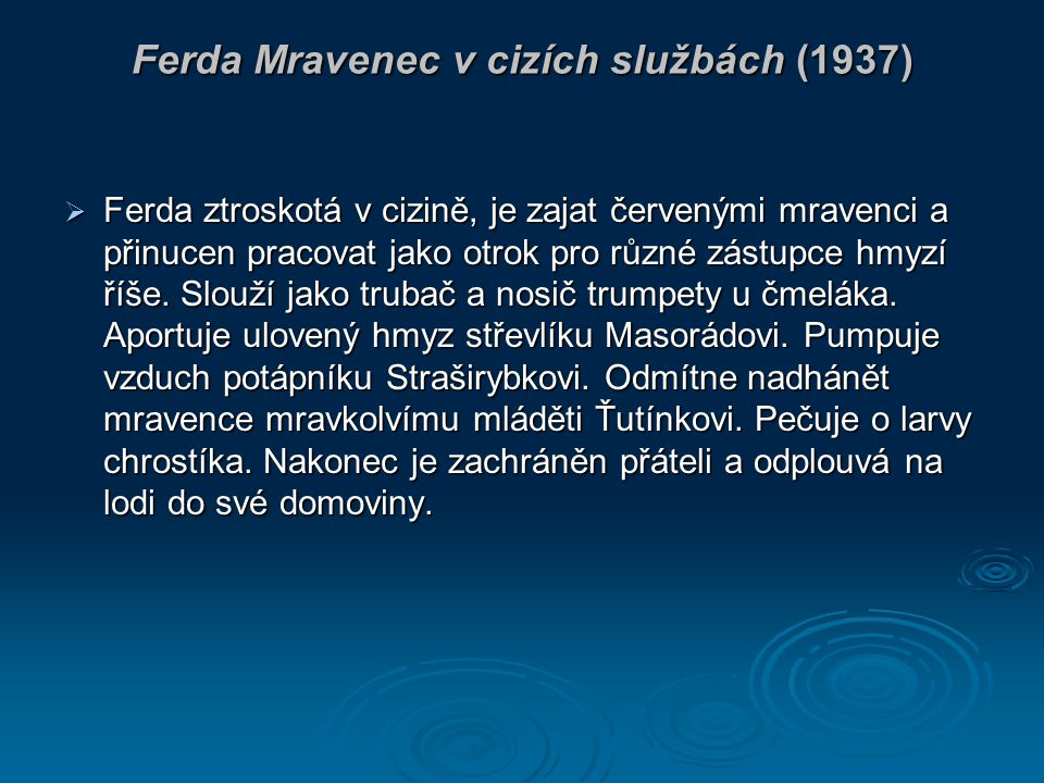 Ferda Mravenec v cizích službách (1937)