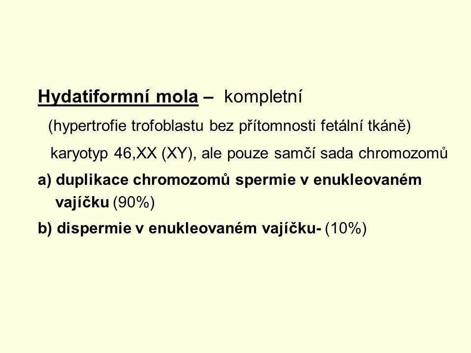 Hydatiformní mola – kompletní
