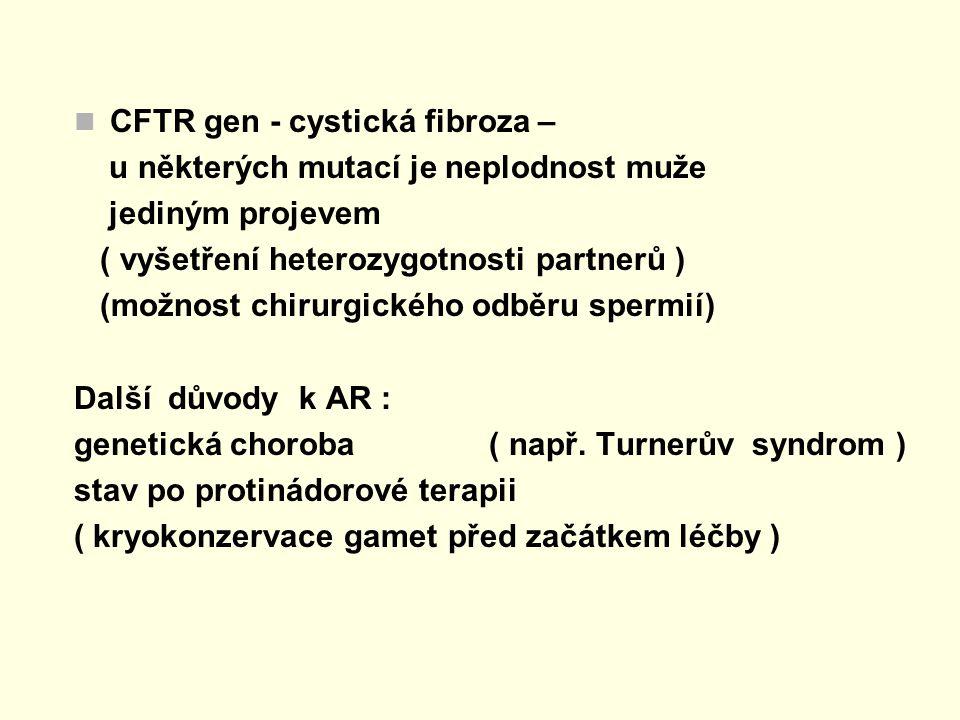 CFTR gen - cystická fibroza –