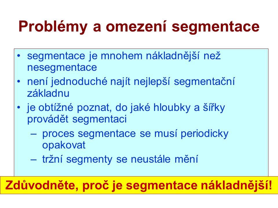 Problémy a omezení segmentace
