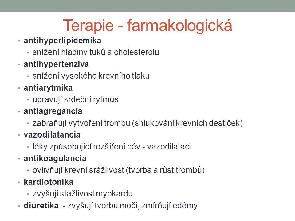 Terapie - farmakologická
