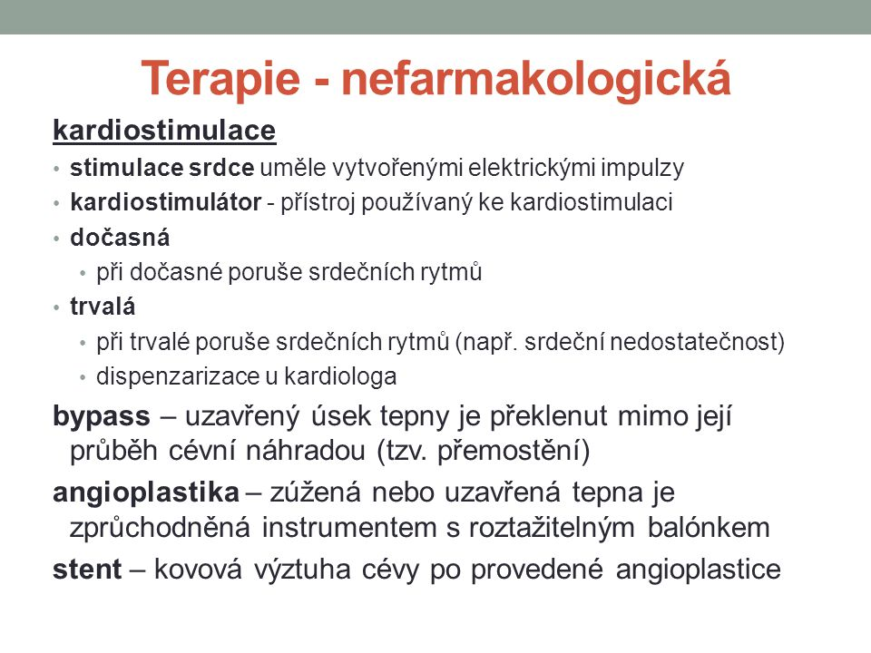 Terapie - nefarmakologická